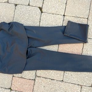 Black Zella pants with skirt attached